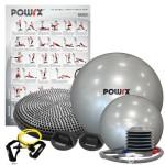 POWRX-Fitness-Set-mit-6-Artikeln-2-x-Gymnastikball-Liegesttzgriffe-Fitness-Tube-Poster-Balance-Kissen-0