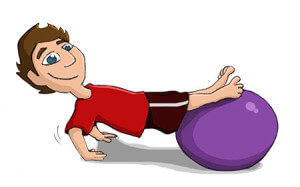 Arme trainieren - Gymnastikball / Sitzball
