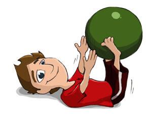 Muskulatur stärken - Gymnastikball / Sitzball