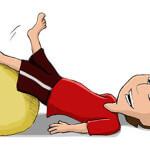 Rückenübungen - Gymnastikball / Sitzball