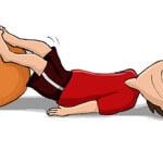 Seitliches Rollen - Gymnastikball / Sitzball