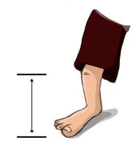 Unterbeinlänge für Sitzball